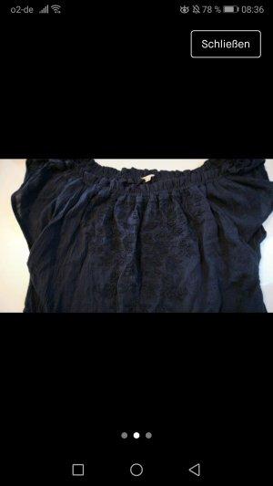 Hollister Boothalsshirt donkerblauw