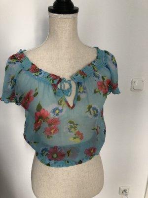 Hollister Camisa de mujer azul celeste-rosa