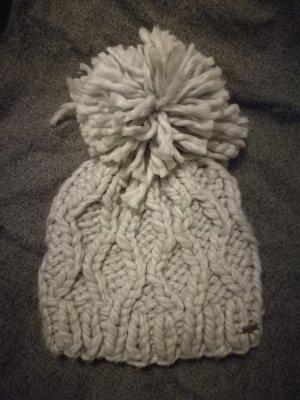 Hollister Chapeau en tricot gris clair
