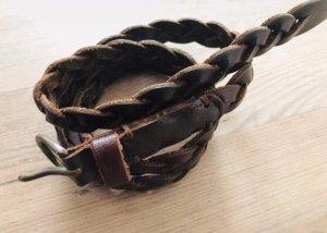 Hollister Braided Belt dark brown