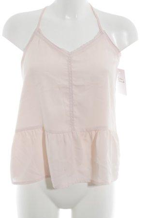 Hollister Camisola rosa claro estilo de lencería
