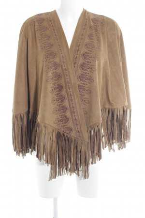 Hollister Cape braun-karminrot Ethnomuster Gypsy-Look