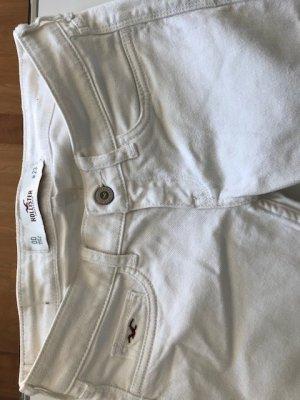 Hollister Jeans 3/4 blanc coton