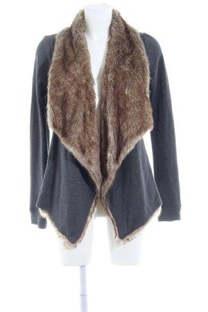 Hollister Cardigan dunkelgrau-graubraun Casual-Look