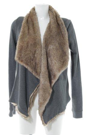 Hollister Cardigan dunkelgrau-graubraun Elegant