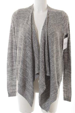 Hollister Cardigan grau-weiß meliert Casual-Look