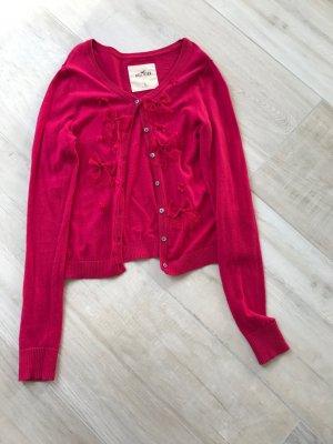 Hollister Cardigan mit schleifen pink