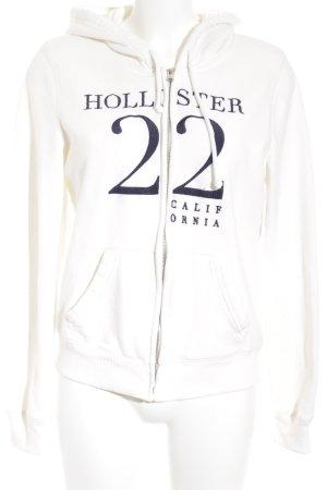 Hollister Cardigan wollweiß-dunkelblau College-Look