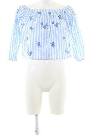 Hollister Carmen Blouse blue-white striped pattern casual look