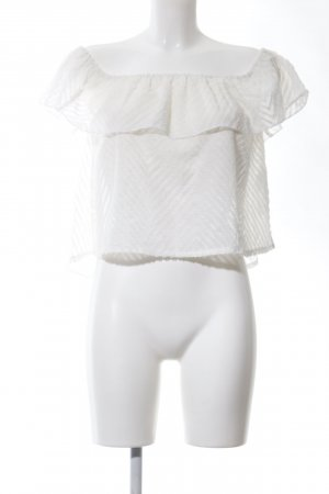 Hollister Blusa tipo Carmen blanco elegante