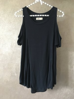 Hollister Cold Shoulder Shirt Top T-Shirt schwarz Gr. XS