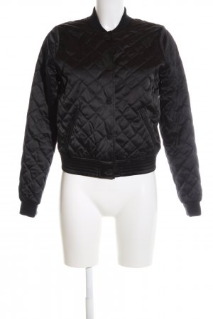Hollister College Jacket black quilting pattern casual look