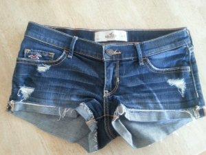 Hollister Pantaloncino di jeans blu-blu scuro