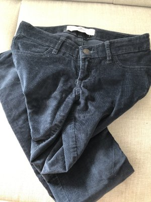 Hollister Pantalón de pana azul oscuro