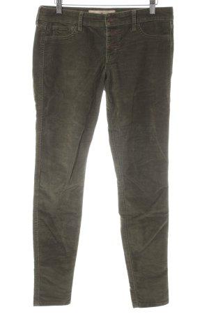 Hollister Pantalon en velours côtelé kaki style décontracté