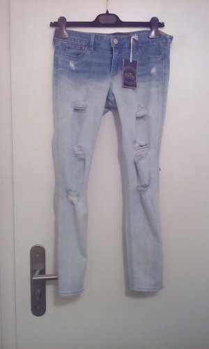 Hollister crop jeans desdroyed Look neu