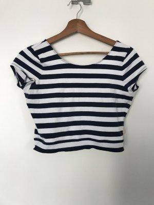 Hollister Camisa recortada blanco-azul oscuro