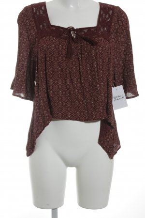 Hollister Cropped Shirt abstraktes Muster Hippie-Look