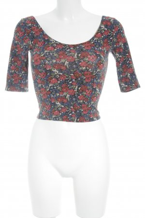 Hollister Cropped Shirt flower pattern '90s style