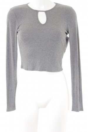 Hollister Cropped Shirt grau Casual-Look
