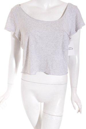 Hollister Cropped Shirt grau Casual-Look