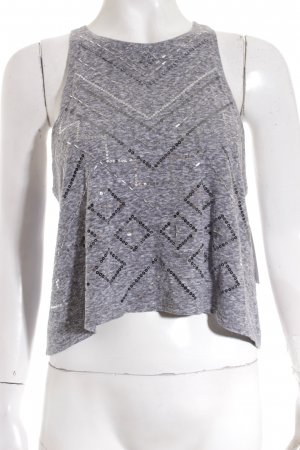 Hollister Cropped Top grau Street-Fashion-Look