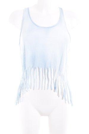 Hollister Top recortado azul claro-turquesa lavado con ácido