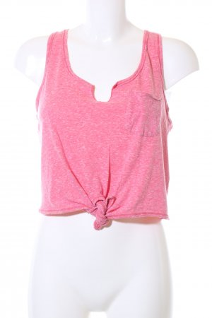 Hollister Cropped Top pink flecked casual look