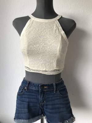 Hollister cropped top spitze nude XS 34