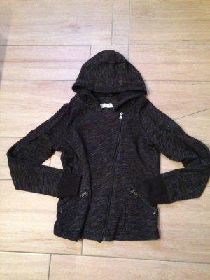 Hollister Damen Jacke Kapuzenjacke Größe M dunkelgrau schwarz