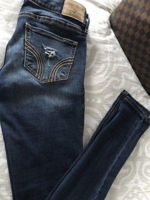 Hollister Destroyed Jeans blau