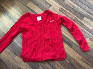 Hollister Cardigan en maille fine rouge