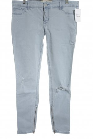 Hollister Five-Pocket-Hose himmelblau College-Look