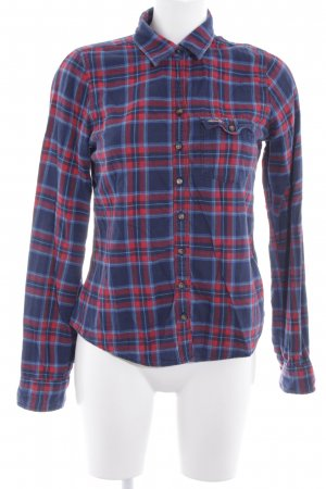 Hollister Flannel Shirt blue-red check pattern casual look