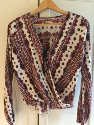 Hollister Wraparound Blouse multicolored