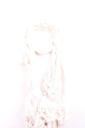 Hollister Fransenschal pink-creme Elegant