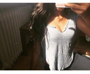 Hollister gestreiftes Tshirt schöner Ausschnitt S