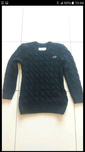 Hollister Grobstrick Pullover dunkelblau Größe S
