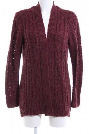 Hollister Coarse Knitted Jacket red cable stitch casual look