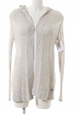 Hollister Coarse Knitted Jacket oatmeal flecked casual look