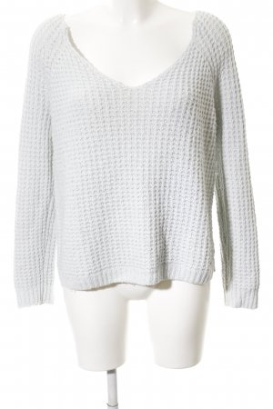 Hollister Coarse Knitted Sweater white casual look
