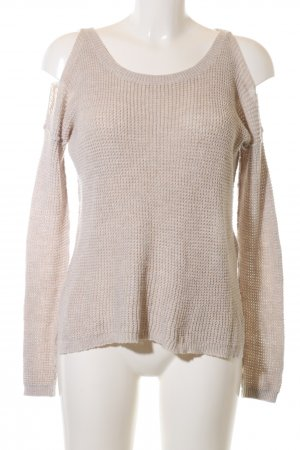 Hollister Coarse Knitted Sweater cream casual look