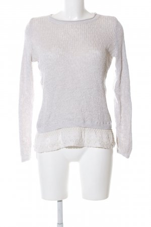Hollister Grobstrickpullover wollweiß Zopfmuster Casual-Look