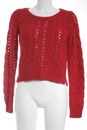 Hollister Grobstrickpullover rot Casual-Look