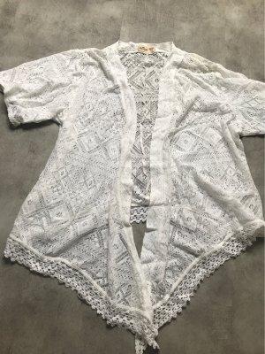 Hollister Boléro en tricot blanc-blanc cassé