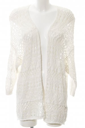 Hollister Crochet Cardigan natural white weave pattern casual look