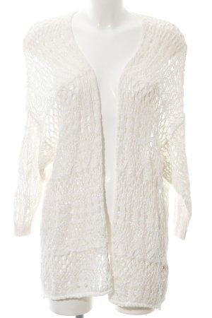 Hollister Cardigan all'uncinetto bianco sporco modello web stile casual
