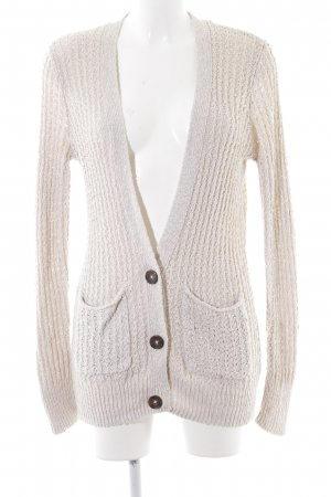 Hollister Crochet Cardigan natural white-nude casual look