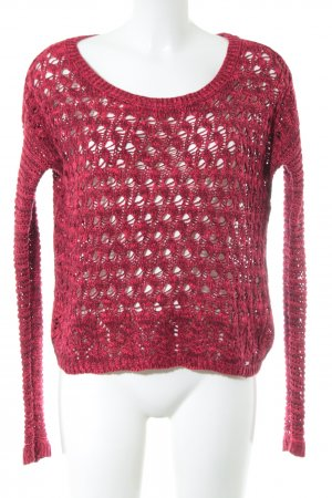 Hollister Crochet Sweater red cable stitch casual look