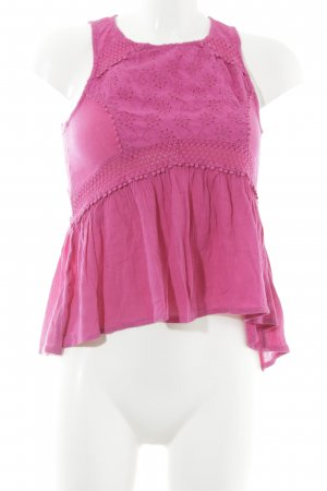 Hollister Crochet Top pink casual look